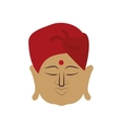 Cartoon man icon Indian Culture design vector image vector image