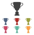 Champions Cup icons set vector image vector image
