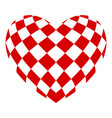 chess heart icon simple style vector image
