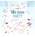 Colorful confetti party background vector image