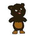 comic cartoon black bear vector image