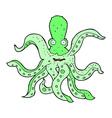 comic cartoon giant octopus vector image vector image