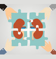 concept of treating kidney kidney composed of vector image vector image