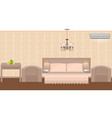 east hotel room interior with furniture vector image vector image