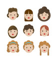 facial set girls vector image
