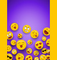 fun smiley face icons copy space background vector image vector image