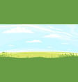 green lawn with grass and flowers vector image vector image