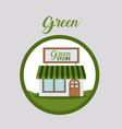 green store and eco design vector image vector image