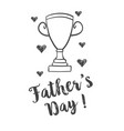 hand draw design father day celebration vector image vector image