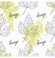 Hand drawn lovage branch and handwritten sign vector image vector image