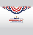 Happy memorial day background design with usa