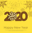 happy new year or christmas card with falling vector image vector image