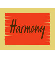 harmony for logotype flyer vector image