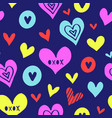hearts pattern love new-15 vector image vector image
