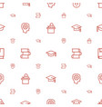 learning icons pattern seamless white background vector image vector image