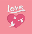 love and valentine day origami style vector image vector image