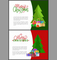 merry christmas wishes on holiday invitation vector image vector image