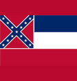 mississippi state flag vector image vector image
