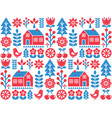 nordic scandinavian folk art seamless pattern vector image vector image