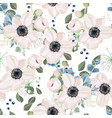 pattern floral watercolor style design vector image vector image