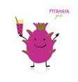 pitaya cute character for your design vector image vector image