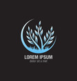 plant logo design vector image vector image