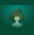 portrait a marsh mermaid vector image vector image