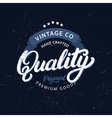 Quality hand written lettering vector image vector image