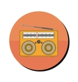 radio stereo portable in round frame vector image