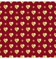 Red gold seamless valentine background vector image vector image