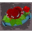 Red heart scene vector image vector image
