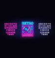 retro music neon sign music design vector image