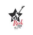 rock club logo est 1976 design element with vector image vector image
