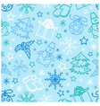 seamless pattern Christmas Figures vector image