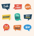 set sale discount and offers paper speech vector image vector image