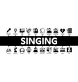 singing song minimal infographic banner vector image vector image