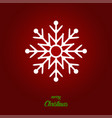 snowflake - icon snowflake with text merry vector image