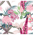 spring blossom floral seamless pattern vector image vector image