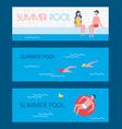 summer pool swimming basin vector image