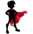 super boy silhouette vector image vector image