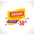 Super sale banner design template best offer vector image vector image