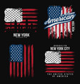 t-shirt graphic design with american flag and vector image vector image