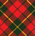 tartan fabric texture diagonal pattern seamless vector image vector image