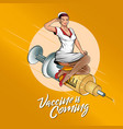 vaccine is coming enhanced version vector image