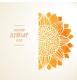 Watercolor sunflower background vector image