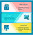 website development banners with place for text vector image