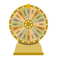 spinning wheel of fortune flat style vector image