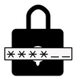 password icon on white background password sign vector image