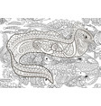 a moray in zentangle style vector image