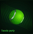 abstract background of tennis ball vector image
